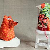 Куклы и игрушки ручной работы. Ярмарка Мастеров - ручная работа Ворона и Лисица. Handmade.