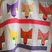 """Для дома и интерьера ручной работы. Ярмарка Мастеров - ручная работа Лоскутное одеяло """"Лисички"""" покрывало. Handmade."""