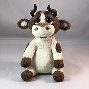handmade. Livemaster - original item felt toy: Bull. Handmade.