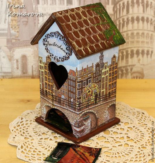 """Кухня ручной работы. Ярмарка Мастеров - ручная работа. Купить """"Амстердам"""" чайный домик. Handmade. Коричневый, голландия, подарок подруге"""