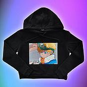 Одежда handmade. Livemaster - original item Hand-painted hoodies / hoodies. Handmade.