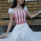 Одежда ручной работы. Ярмарка Мастеров - ручная работа Летнее вышитое платье. Handmade.