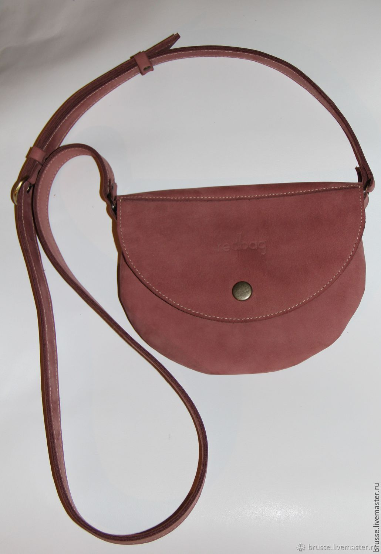 Nubuck Redbag handbag, Crossbody bag, St. Petersburg,  Фото №1