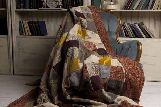 """Текстиль, ковры ручной работы. Ярмарка Мастеров - ручная работа. Купить № 7 """"Пряности""""  Покрывало в технике пэчворк. Handmade."""
