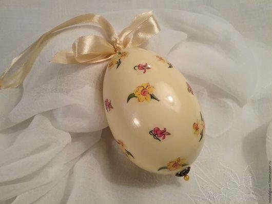 Яйца ручной работы. Ярмарка Мастеров - ручная работа. Купить Яйцо подарочное Нарцисс. Handmade. Желтый, весна, подарок на именины