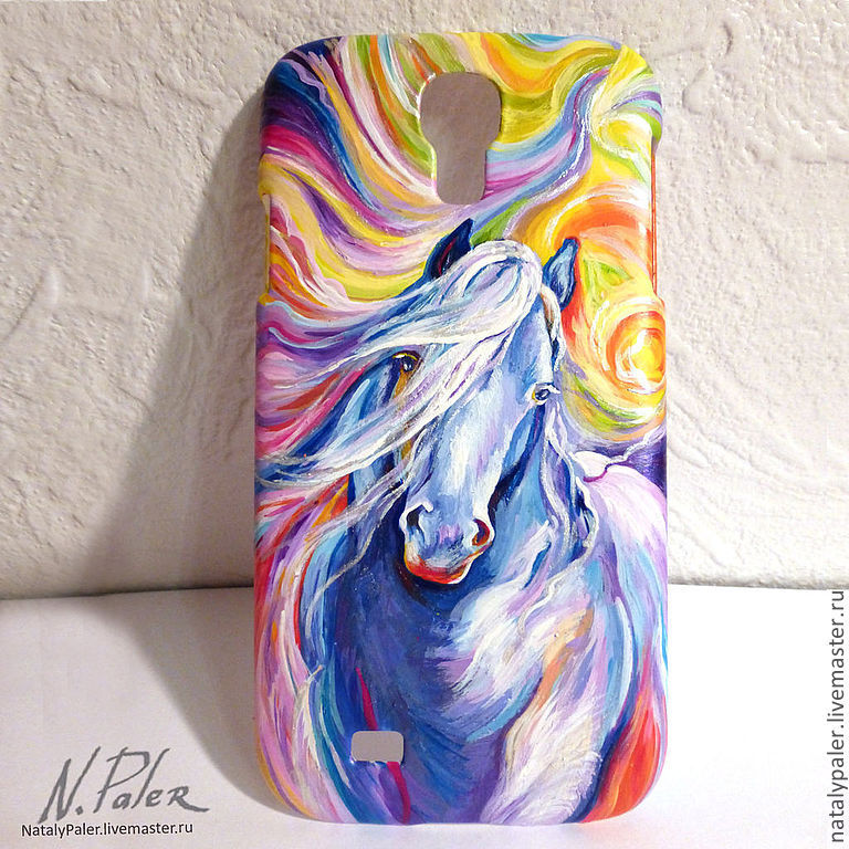 Телефон роспись краски