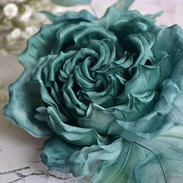 """Цветы и флористика ручной работы. Ярмарка Мастеров - ручная работа Изумрудная роза """"Magic"""" из шелка . Цветы из шелка. Handmade."""