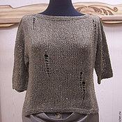 Одежда ручной работы. Ярмарка Мастеров - ручная работа Джемпер вязаный  Монвизо, шелк с хлопком Швейцария, бохо. Handmade.