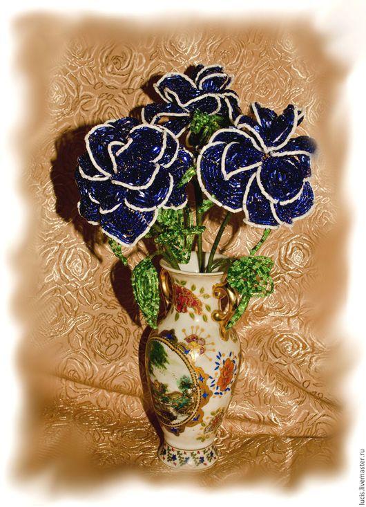 Цветы ручной работы. Ярмарка Мастеров - ручная работа. Купить Роза из бисера. Handmade. Комбинированный, роза, роза из бисера, бисер