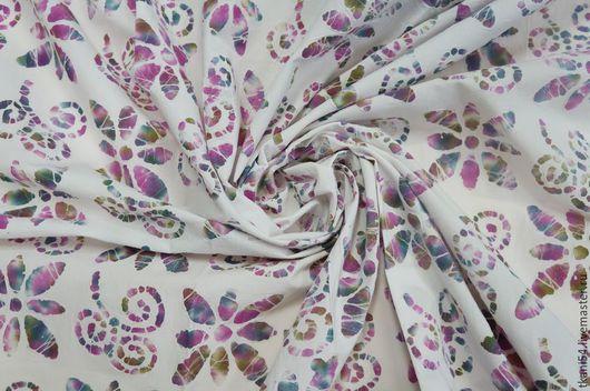 Шитье ручной работы. Ярмарка Мастеров - ручная работа. Купить Ткань плат. хлопок бабочки, 120 см, белый. Handmade.