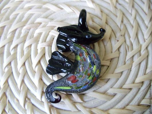 """Для украшений ручной работы. Ярмарка Мастеров - ручная работа. Купить Подвеска из муранского стекла """"Морской конек"""". Handmade. Разноцветный"""
