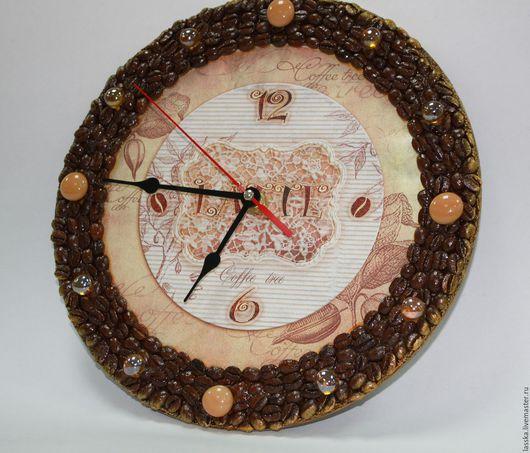 Часы для дома ручной работы. Ярмарка Мастеров - ручная работа. Купить Часы Кофе Латте. Handmade. Часы, кофейный, бежевый