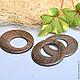 Кольцо со смещенным центром.\r\n Серое дерево(.\r\nДиаметр наружный/ внутренний. 45мм /25 мм.\r\nпроизводство Филиппины.\r\nЦена 100 за 1 шт. В наличии нет