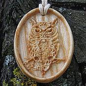 Фен-шуй и эзотерика ручной работы. Ярмарка Мастеров - ручная работа Славянский  деревянный оберег -  Сова. Handmade.