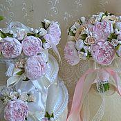 Свадебный салон handmade. Livemaster - original item Set wedding peonies Japanese clay Mega gift. Handmade.