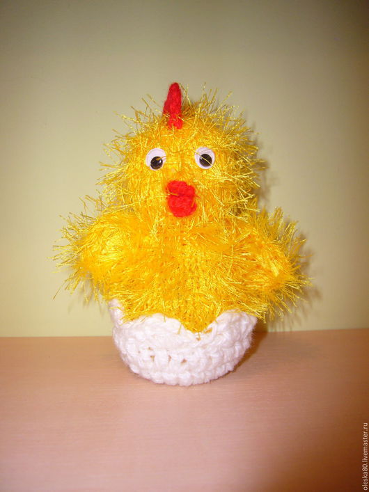 Подарки на Пасху ручной работы. Ярмарка Мастеров - ручная работа. Купить Пасхальный цыпленок. Handmade. Желтый, цыпленок, пластиковые глазки