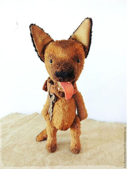 Мишки Тедди ручной работы. Ярмарка Мастеров - ручная работа. Купить Щенок немецкой овчарки. Собачка-тедди. Handmade. Коричневый
