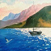 Картины ручной работы. Ярмарка Мастеров - ручная работа Утро в море. Handmade.
