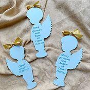 Пасхальные сувениры ручной работы. Ярмарка Мастеров - ручная работа Ангелочки на крещение с гравировкой. Handmade.