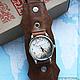 """Часы ручной работы. Часы наручные JK """"Путешествия"""". Екатерина (JayKay). Ярмарка Мастеров. Часы наручные, подарок, натуральная кожа"""