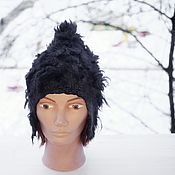 Аксессуары handmade. Livemaster - original item A helmet or hat felted Ugolek warm cap hat wool. Handmade.