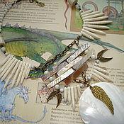 """Украшения ручной работы. Ярмарка Мастеров - ручная работа Ожерелье  """"Белый дракон"""". Handmade."""