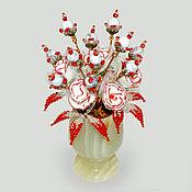 Цветы и флористика handmade. Livemaster - original item Flowers from kakholong (milk opal)
