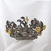 Посуда handmade. Livemaster - original item Openwork bowl, Stone flower. Handmade.