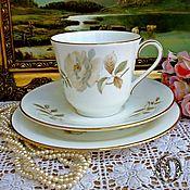 Винтаж ручной работы. Ярмарка Мастеров - ручная работа Royal Doulton Чайное Трио Yokshire Rose  Англия. Handmade.