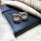 Украшения handmade. Livemaster - original item silver plated cufflinks vitruvian man (large). Handmade.