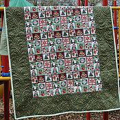Подарки к праздникам ручной работы. Ярмарка Мастеров - ручная работа Стеганое одеяло плед новый год, рождество. Handmade.