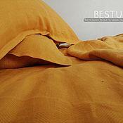 """handmade. Livemaster - original item Copy of Copy of Linen bed linen """"bleck"""" (100% linen). Handmade."""
