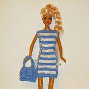 Куклы и игрушки ручной работы. Ярмарка Мастеров - ручная работа Вязанное платье для кукол Барби Акция см. блог. Handmade.