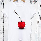 Одежда handmade. Livemaster - original item White cotton t-shirt with