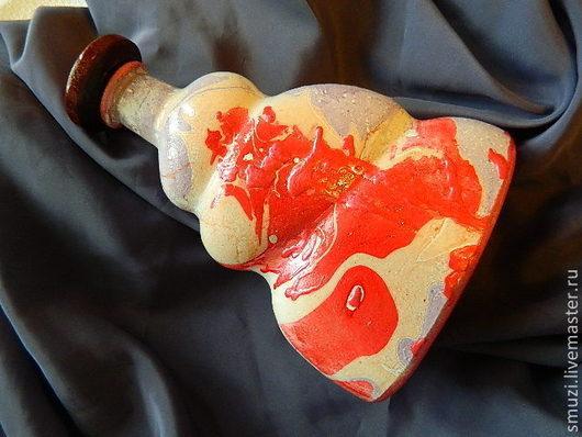 Декоративная посуда ручной работы. Ярмарка Мастеров - ручная работа. Купить КРОВЬ КРАСНОГО ДРАКОНА бутылка (без содержимого). Handmade.