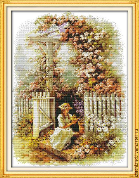 Набор для вышивания `Девушка в саду`