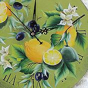 Для дома и интерьера handmade. Livemaster - original item Clock with painting,