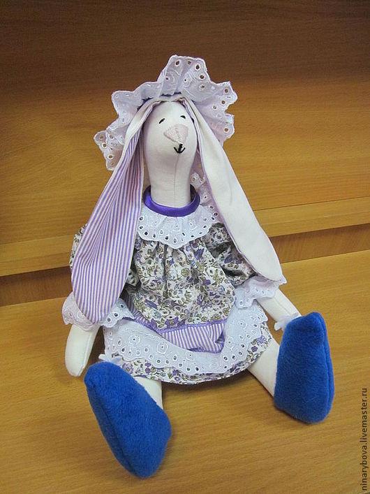 Куклы Тильды ручной работы. Ярмарка Мастеров - ручная работа. Купить кукла зайка  Зойка. Handmade. Сиреневый, подарок девушке