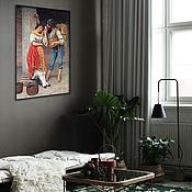 Картины и панно handmade. Livemaster - original item Picture of a Romantic scene. Handmade.