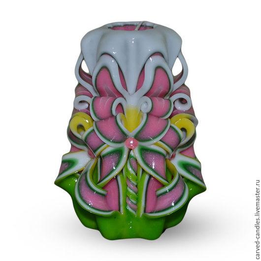 """Свечи ручной работы. Ярмарка Мастеров - ручная работа. Купить Резная свеча ручной работы  """"Весенний рассвет"""". Handmade."""