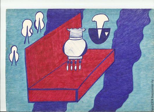 Абстракция ручной работы. Ярмарка Мастеров - ручная работа. Купить Комната детства. Handmade. Детство, сказка, ручная работа, карандаш