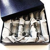 """Сувениры и подарки handmade. Livemaster - original item Набор """"Праздничный Граненый"""" (6 рюмок в коробке). Handmade."""