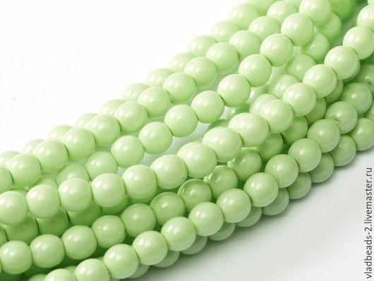 Для украшений ручной работы. Ярмарка Мастеров - ручная работа. Купить Бусины 3мм чешские стеклянные Light Spring Green. Handmade.
