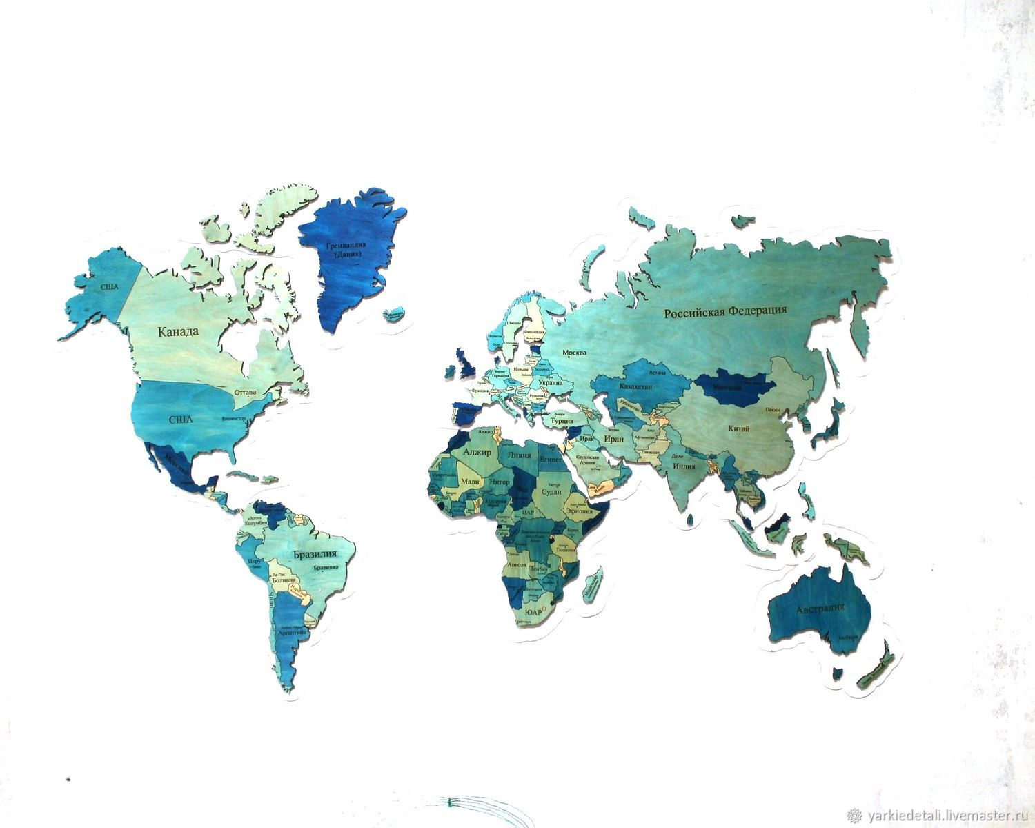 """Map of the WORLD""""quilt in color"""" – shop online on Livemaster with"""
