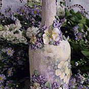 """Сувениры и подарки ручной работы. Ярмарка Мастеров - ручная работа Бутылка """" Цветущий сад"""". Handmade."""