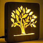 Для дома и интерьера handmade. Livemaster - original item Wooden Night light, tree night light lamp. Handmade.