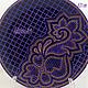 Декоративная посуда ручной работы. VIOLET декоративная тарелка Точечная роспись. ADALINA-ART Точечная роспись. Интернет-магазин Ярмарка Мастеров.