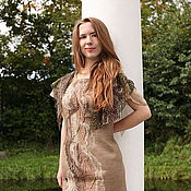 """Одежда ручной работы. Ярмарка Мастеров - ручная работа валяное  платье """"ПескИ"""" нуно войлок. Handmade."""