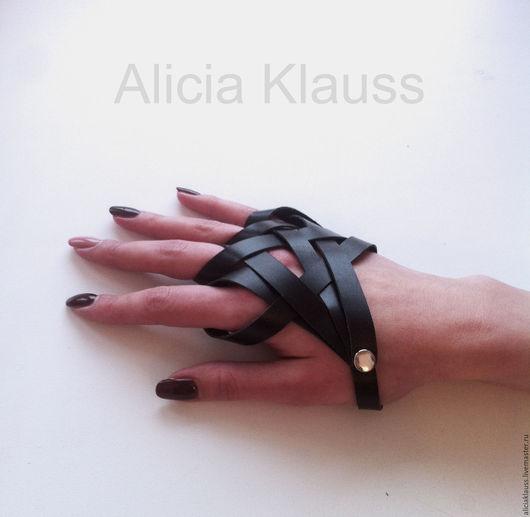 Перчатки ручной работы Alicia Klauss. Перчатки женские купить. Перчатки без пальцев.  Аксессуары из натуральной кожи. Handmade. Перчатки Sandra.
