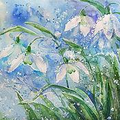 Картины и панно handmade. Livemaster - original item Watercolor painting Awakening. Handmade.